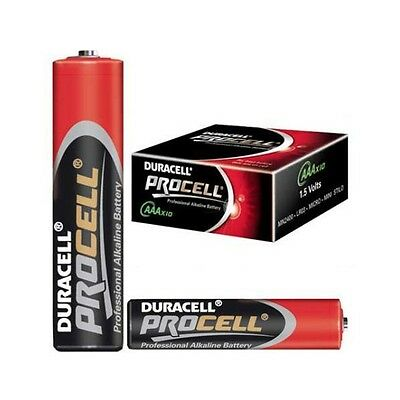 50 Duracell Procell Aaa Batteries Professional Alkaline Lr03 Mn2400 2019 Expiry