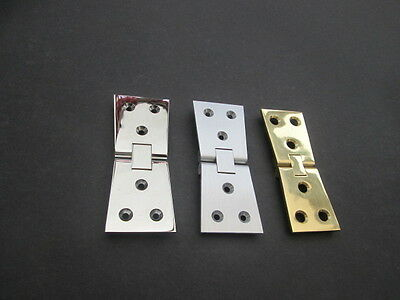 Pair of Solid Brass chrome counter flap backflap butterfly hinges for shops pubs