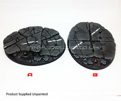 Large Oval Urban Rubble Resin Bases - Warhammer 40K Flyer City - Choose Style