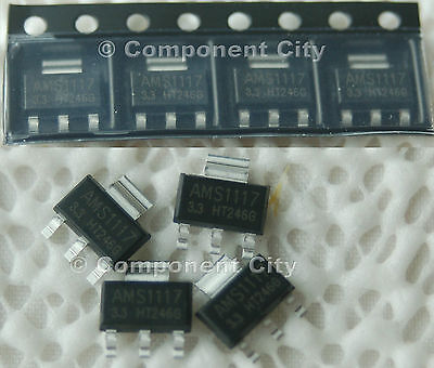 8x AMS1117-3.3 Voltage Regulator 1 Amp Low Dropout Voltage for some Arduino's