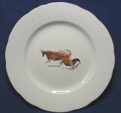 Porcelain M.P. Samie Limoges France Lascaux II Caves French China Plate