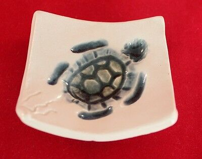 HAND CRAFTED SEA TURTLE HATCHLING BEACH POTTERY OCEAN TEA BAG JEWELRY SPOON REST