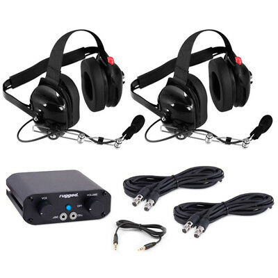 2 Seat 660 Intercom Kit w/ Headsets Offroad Racing Rugged Radio In Vehicle Comm.