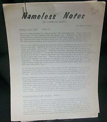 Nameless Notes Lecture Notes by Andrus Jerry