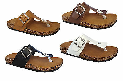 New Ladies' Casual Buckle Straps Sandals Thong Flip Flop Soft Footbed***Revo-2