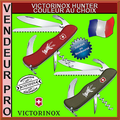 Couteau Suisse Victorinox Hunter 13 Outils Rouge Ou Vert Neuf 0.8873 0.8873.4