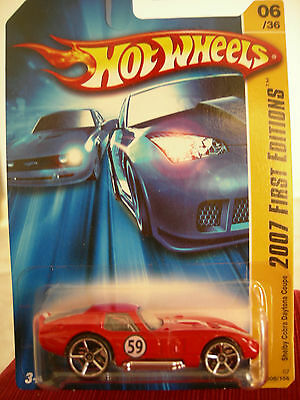 Hot Wheels Shelby Cobra Daytona Coupe 2007 First Editions Red
