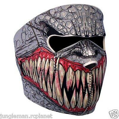 Full Face FANGS FANG Neoprene Face Mask  Helmet internal black HARLEY SELLER
