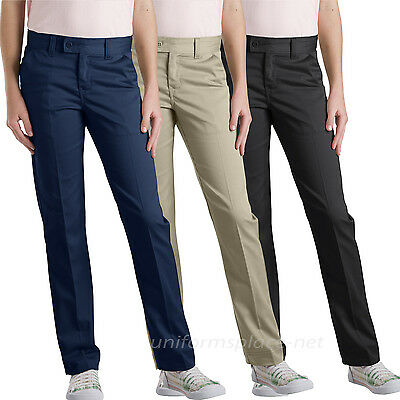 Dickies School Uniforms Pants Girl Slim Straight Pant KP319/519 Black Navy Khaki