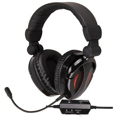 Gaming Headset for PS3 XBox 360 MAC PC game sound + chat 2.1 EXTRA BASS Stereo