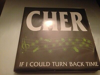 """Cher - Spanish One Sided 7"""" Single Spain If I Could Turn Back Time"""
