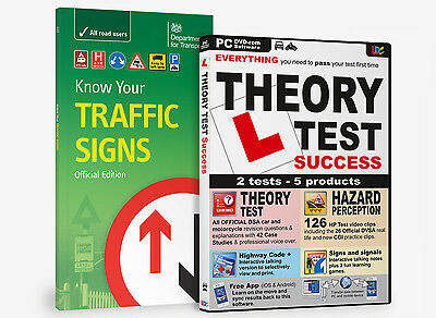 Know Your Traffic Signs & Driving Theory Test Success Dvd Rom 2018 Bnib