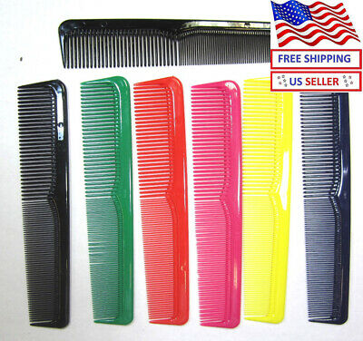 "LOT OF 7,14,42 PC---9""  Hair Styling Combs Wide & Fine Tooth.Plastic---CM21A"