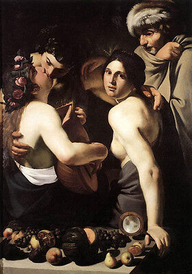 Beautiful Oil painting Bartolomeo Manfredi - Allegory of the Four Seasons canvas
