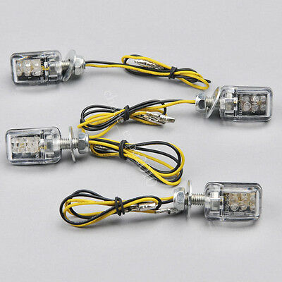 4x6 LED Mini Motorcycle Turn Signal Light Indicator Yamaha Kawasaki Suzuki Honda