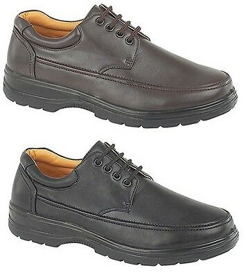 Mens New Black / Brown Casual Leisure Walking Shoes Size UK 6 7 8 9 10 11 12