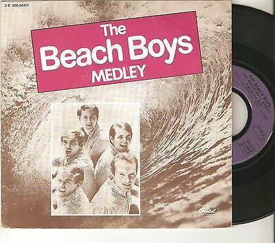 "THE BEACH BOYS 7"" FRANCE FRANCIA 45 THE BEACH BOYS MEDLEY Original 1981 Raro !!"