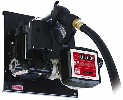 Piusi ST E80 Wall Mount diesel Pump kit with nozzle and meter