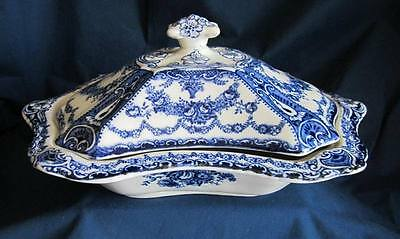 Vintage Flow Blue Tureen