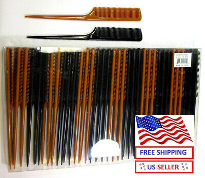 """Wholesale Lot Of 12,24, 72 Pc---9"""" Bonetail Comb Hair Styling---Cm25"""