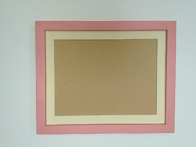 New Modern Baby Pastel Pink Photograph/picture Frame With Picture Mount
