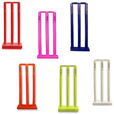 Cricket Stumps & Bails With Floor Base Cricket Wicket & Stumps YOUTH,ADULTS
