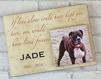 Personalised Handcrafted Wooden Dog Cat Pet Memorial Plaque Keepsake Memory Gift