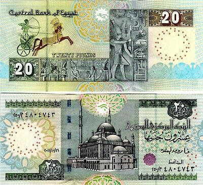 Egypt 2011 Uncirculated 20 Pounds Note