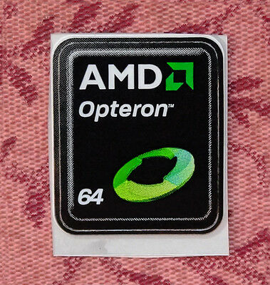 AMD Opteron 64 Sticker 18 x 21.5mm Case Badge Logo Label USA Seller