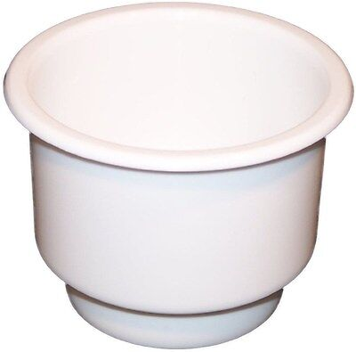 New Two tiered White plastic cup drink can holder boat RV Universal