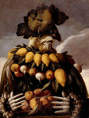 Wonderful art Oil painting Giuseppe Arcimboldo - The Seasons Picture canvas 36""