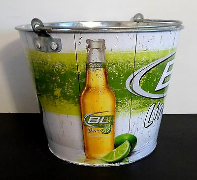 BUD LIGHT LIME ICE SNACK METAL BUCKET PARTY COOLER COLLECTIBLE BAR MANCAVE