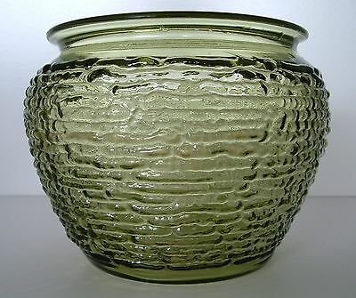 Vintage National Potteries Glass Beehive Humidor Bowl For Walnut Pipe Holder
