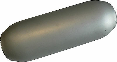 "Hot Dog / Resonator, muffler 9"" long, 2.5"" in & out, HIGH FLOW, Mild Steel, NEW"