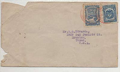 COLOMBIA COVER WOTH BLUE 30c + BLUE 3c.
