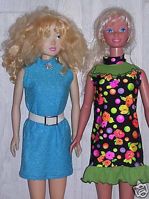 """NG Creations Sewing Pattern #2 Turtleneck Dress fits 36"""" My Size Barbie Doll"""