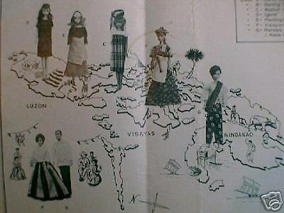 Rare Vintage Sewing Pattern Philippine Costumes fits Barbie Francie Ken Skipper