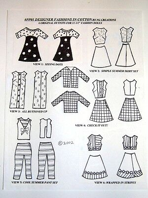 NG Creations Pattern #PP1 Sew 60s Designer Fashions Fits Barbie Doll