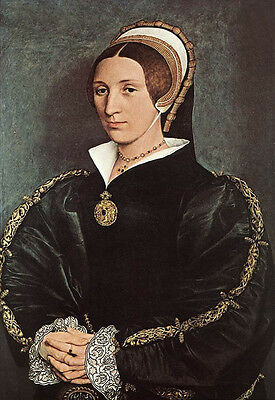 Beautiful Oil painting Holbein Hans - Female Portrait of Catherine Howard