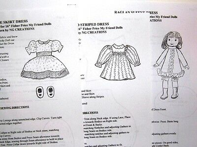 NG Creations Sew Pattern Front Pleat Dress fits Crissy Velvet Cinnamon Dolls