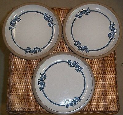 MIDWINTER   BLUE PRINT ENGLAND SET OF 3   BREAD AND BUTTER   PLATES