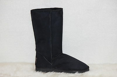Ugg Boots Tall, Synthetic Wool, Size 4 Lady's, Colour Black