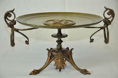 Antique Decorative French Victorian Bronze Tazza Plate late 19th c FREE SHIPPING