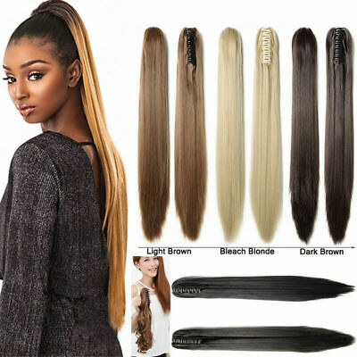 Premium 100% human hair extensions * ponytail with claw , easy clips any color