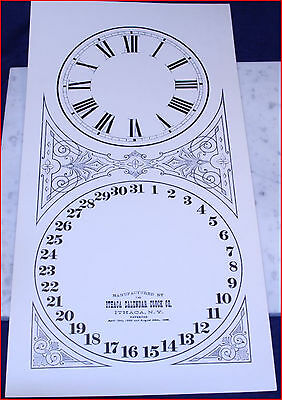 Ithaca Calendar Clock Replacement Dial For Octagon #11