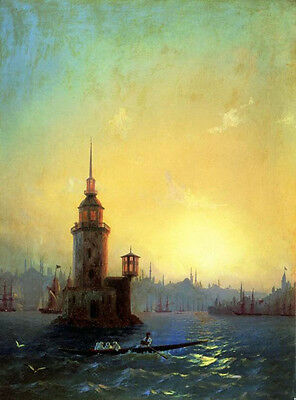 Oil Ivan Constantinovich Aivazovsky - View of Leandrovsk tower in Constantinople