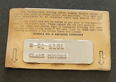 Vintage Humble Oil & Refining Company Credit Card Gasoline Humble-Matic