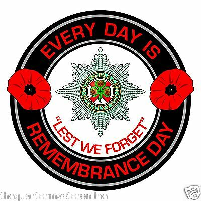 Irish Guards Remembrance Day Inside Car Window Clear Cling Sticker