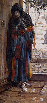 Art Oil painting Joseph Tissot - The Repentant Magdalene Female portrait canvas