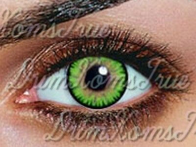 Lentille de couleur Vert Emeraude / Gemstone Green //3 Tons// Utilisable 3 Mois